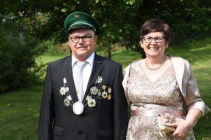 Kaiserpaar 2017-2022 Erhard und Petra Albers