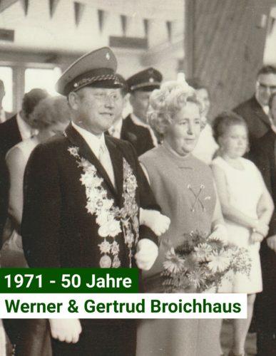 Jubelkönigspaar 1971-50 Jahre- Werner und Gertrud Broichhaus