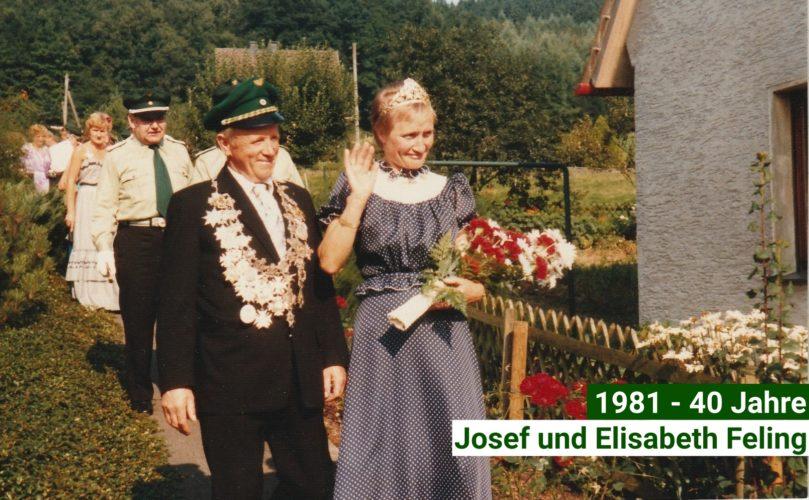 Jubelkönigspaar 1981-40 Jahre-Josef und Elisabeth Feling