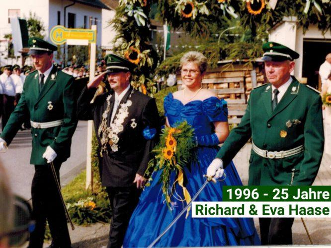 Jubelkönigspaar 1996-25 Jahre-RIchard und Eva Hasse